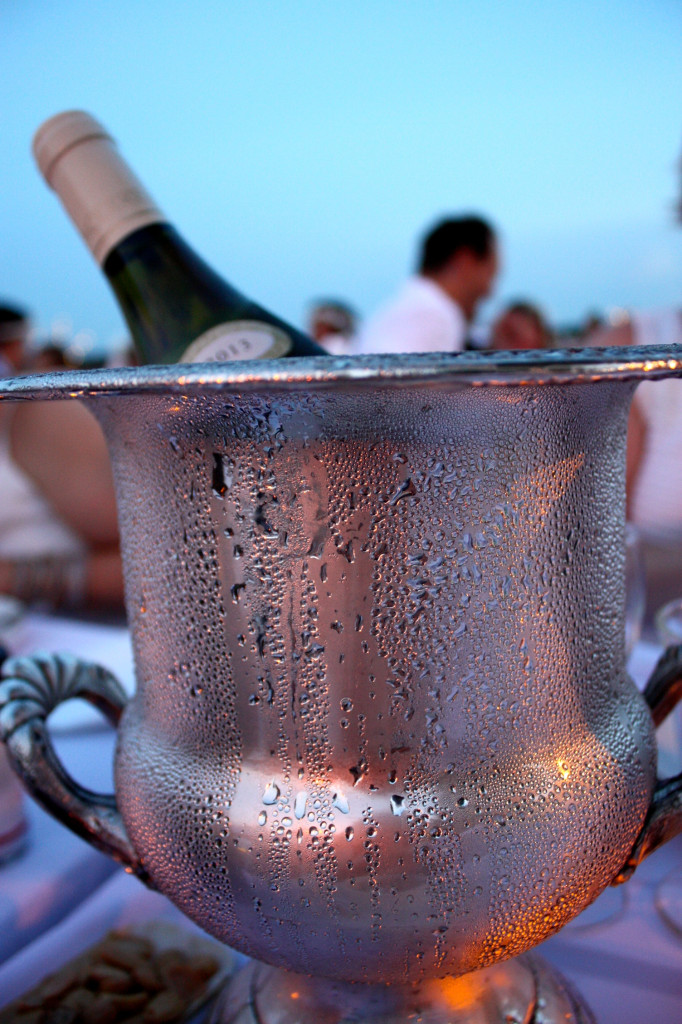 champagne bucket chilling wine