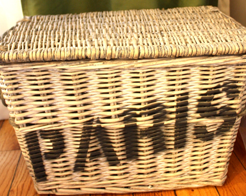 Our picnic basket- How lucky that my sister already had this on hand!?