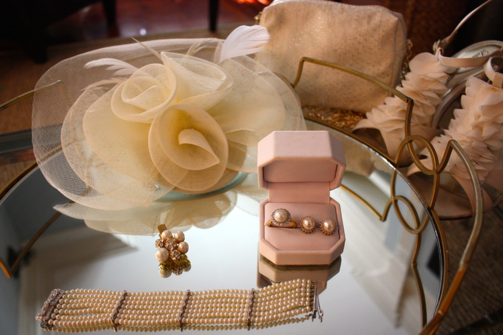 The accessories for the evening. The event is as much about fashion as it is food and wine!