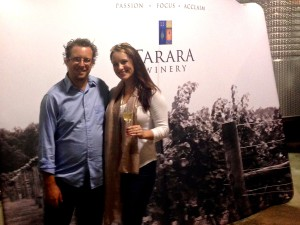 With winemaker, Jordan Harris.