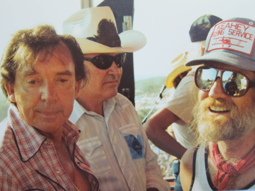 From Dolin's days as a professional musician.  Pictured: Ray Price and Willie Nelson. In Willie's sunglass lens you can see a reflection of the legendary steel guitar player Buddy Emmons.