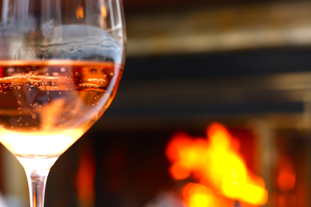 Tis the season...for drinking Champagne in front of the fire!