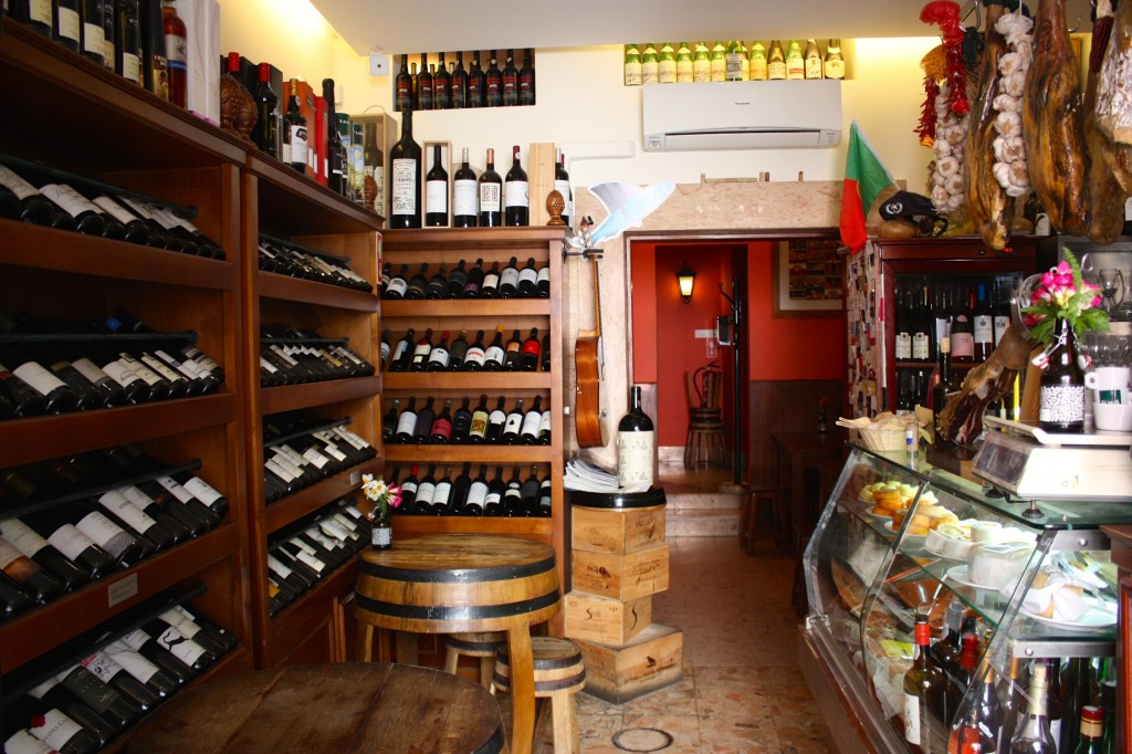 Inside the tiny but mighty wine bar